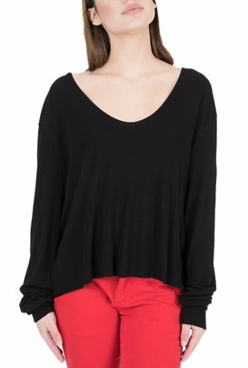 AMERICAN VINTAGE-Γυναικεί αμακρυμάνικη μπλούζα MALI21E18 μαύρη