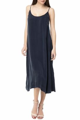 AMERICAN VINTAGE-Γυναικείο midi φόρεμα AMERICAN VINTAGE MEA188BE18 σκούρο μπλε