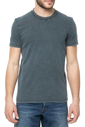 AMERICAN VINTAGE-Ανδρική κοντομάνικη μπλούζα MFUN14E18 μπλε