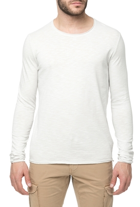 AMERICAN VINTAGE-Ανδρική μακρυμάνικη μπλούζα MLAMA5BE18 λευκή