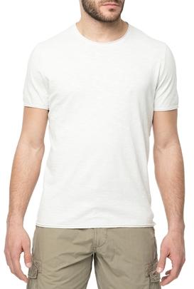 AMERICAN VINTAGE-Ανδρική κοντομάνικη μπλούζα MLAMA5E18 λευκή
