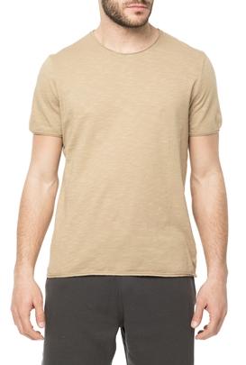 AMERICAN VINTAGE-Ανδρική κοντομάνικη μπλούζα MLAMA5E18 μπεζ