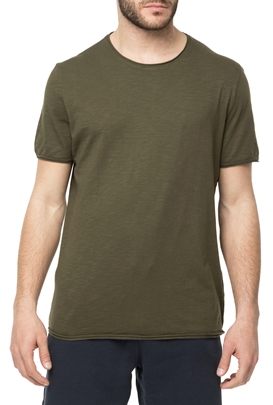 AMERICAN VINTAGE-Ανδρική κοντομάνικη μπλούζα MLAMA5E18 χακί