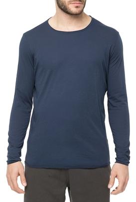 AMERICAN VINTAGE-Ανδρική μακρυμάνικη μπλούζα MTINI2TE18 μπλε