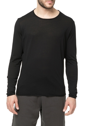 AMERICAN VINTAGE-Ανδρική μακρυμάνικη μπλούζα MTINI2TE18 μαύρη