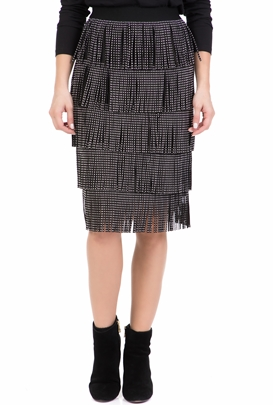 AMUSE-Γυναικεία midi φούστα AMUSE μαύρη 255394d9473