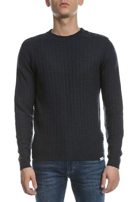 BROOKSFIELD-Ανδρικό πουλόβερ BROOKSFIELD μπλε