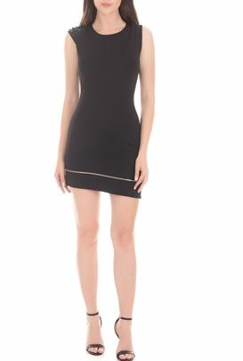 BYBLOS-Γυναικείο μίνι φόρεμα BYBLOS TUBINO PUNTO MILANO μαύρο