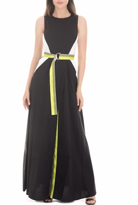 BYBLOS-Γυναικείο μάξι φόρεμα BYBLOS INSTITUTIONAL μαύρο