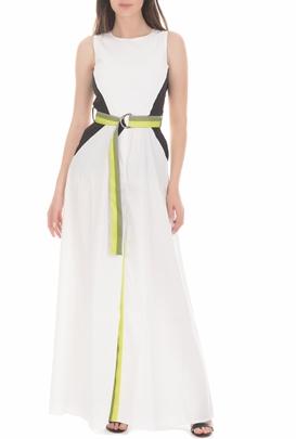 BYBLOS-Γυναικείο μάξι φόρεμα BYBLOS INSTITUTIONAL λευκό
