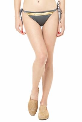 CK UNDERWEAR-Γυναικείο σλιπ μαγιό CK Underwear CHEEKYγκρι