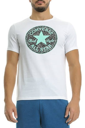 CONVERSE-Ανδρική μπλούζα CP Knit Texture Fill tee λευκή