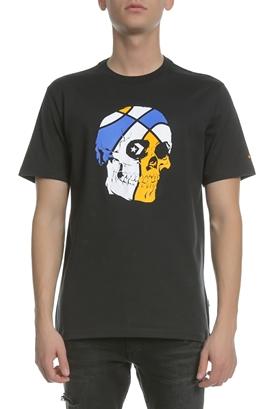 62e7d34aa602 CONVERSE-Ανδρική κοντομάνικη μπλούζα BASKETBALL SKULL μαύρη