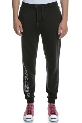 CONVERSE-Ανδρικό παντελόνι φόρμας CONVERSE μαύρο