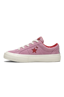 CONVERSE-Κοριτσίστικα σουέντ sneakers Converse x Hello Kitty One Star ροζ 7a38cf7ef69