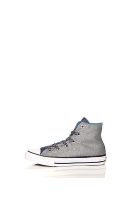 CONVERSE-Παιδικά παπούτσια CONVERSE Chuck Taylor All Star Hi ασημί-μπλε