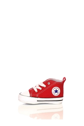 CONVERSE-Βρεφικό μποτάκι Converse Chuck Taylor First Star Hi κόκκινο