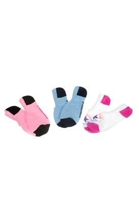 CONVERSE-Σετ γυναικείες κάλτσες Converse λευκές-ροζ-γαλάζιες 105d7f14977