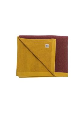 FRANKLIN & MARSHALL-Πετσέτα θαλάσσης FRANKLIN & MARSHALL κίτρινη-κόκκινη