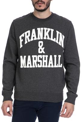 FRANKLIN   MARSHALL-Ανδρική φούτερ μπλούζα FRANKLIN   MARSHALL γκρι 9f024cd3244