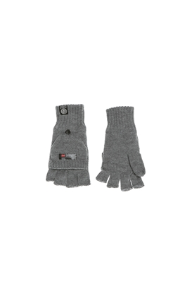 FRANKLIN   MARSHALL-Πλεκτά γάντια FRANKLIN   MARSHALL γκρι 7f0d1a4713a