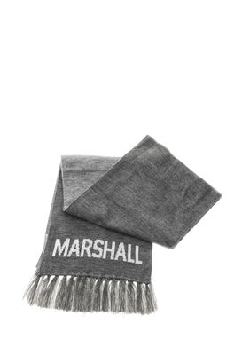 FRANKLIN & MARSHALL-Unisex κασκόλ FRANKLIN & MARSHALL γκρι