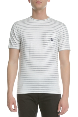 39f15abbf667 FRANKLIN   MARSHALL-Ανδρική κοντομάνικη μπλούζα Franklin   Marshall ριγέ