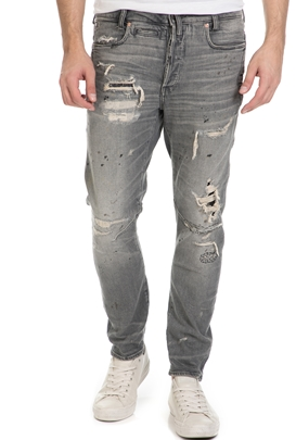 G-STAR RAW-Ανδρικό τζιν παντελόνι G-Star D-STAQ 3D TAPERED γκρι