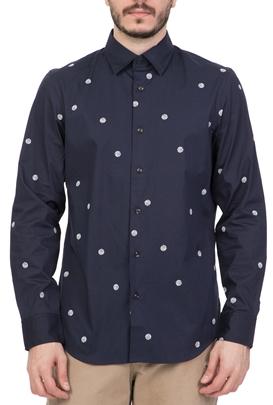 0cf1e3eb1dea G-STAR RAW-Ανδρικό μακρυμάνικο πουκάμισο G-STAR RAW CORE μπλε