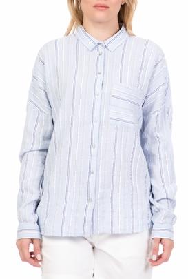 eff9d0637633 GARCIA JEANS-Γυναικείο μακρυμάνικο πουκάμισο GARCIA JEANS γαλάζιο
