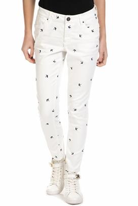 GARCIA JEANS-Γυναικείο τζιν παντελόνι Garcia Jeans σε λευκό