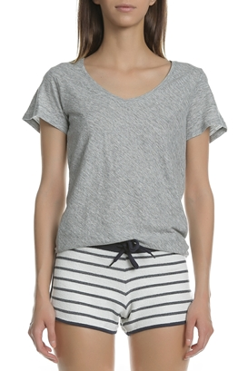 GARCIA JEANS-Γυναικεία κοντομάνικη μπλούζα GARCIA JEANS γκρι