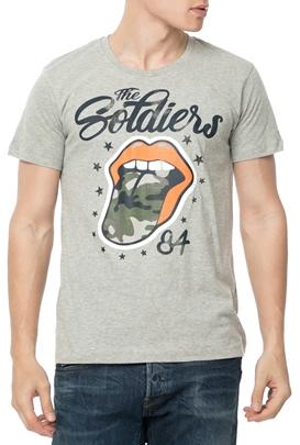 GAS-Ανδρικό t-shirt GAS M C ARKELL S TONGUE γκρι 20d305855d6