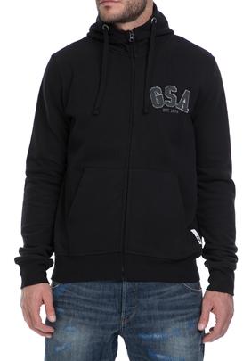 GSA-Ανδρική φούτερ ζακέτα GLORY GSA μαύρη