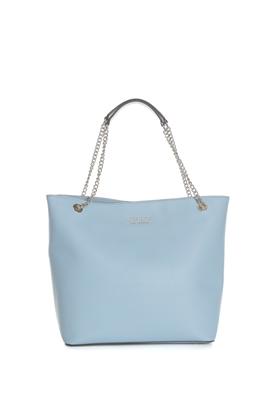 GUESS-Γυναικεία τσάντα ώμου ROBYN GUESS γαλάζια 2e0d0508802