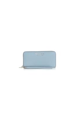 1708554419 GUESS-Γυναικείο πορτοφόλι με φερμουάρ ROBYN GUESS γαλάζιο