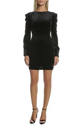 GUESS-Γυναικείο μίνι φόρεμα GUESS AURELIA μαύρο - ασημί fa08b271246
