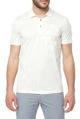 HAMAKI HO-Ανδρική πόλο μπλούζα HAMAKI HO λευκή
