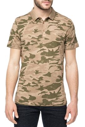 HAMAKI HO-Ανδρική πόλο μπλούζα HAMAKI HO με μοτίβο παραλλαγής