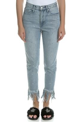 JUICY COUTURE-Γυναικείο τζιν παντελόνι Juicy Couture μπλε με ξέφτια