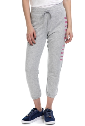 JUICY COUTURE-Γυναικεία φόρμα KNIT SLIM SWEATPANT JUICY COUTURE γκρι