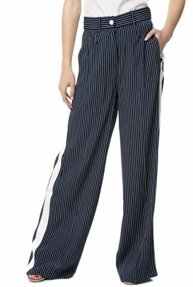 JUICY COUTURE-Γυναικεία παντελόνα JUICY COUTURE μπλε με ριγέ μοτίβο