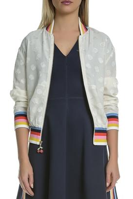 JUICY COUTURE-Γυναικείο bomber jacket Juicy Couture εκρού