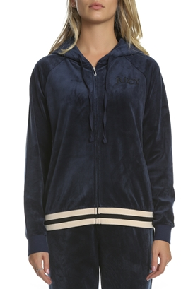 86835de1f419 JUICY COUTURE-Γυναικεία βελουτέ ζακέτα LUXE VELOUR RELAXED μπλε