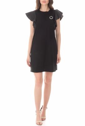 KARL LAGERFELD-Γυναικείο φόρεμα KARL LAGERFELD Ruffle Sleeve μαύρο