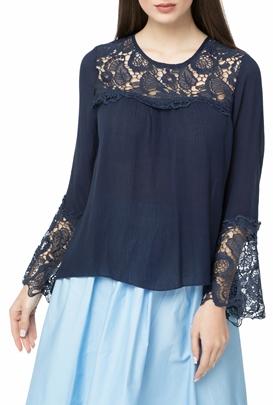 MOLLY BRACKEN-Γυναικεί αμακρυμάνικη μπλούζα MOLLY BRACKEN μπλε
