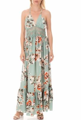 MOLLY BRACKEN-Γυναικείο μάξι φόρεμα MOLLY BRACKEN πράσινο