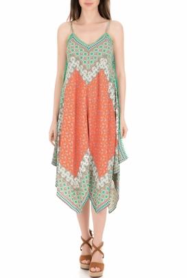 a48c72225549 MOLLY BRACKEN-Γυναικείο φόρεμα MOLLY BRACKEN πράσινο-πορτοκαλί