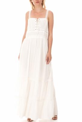 MOLLY BRACKEN-Γυναικείο μάξι φόρεμα MOLLY BRACKEN λευκό