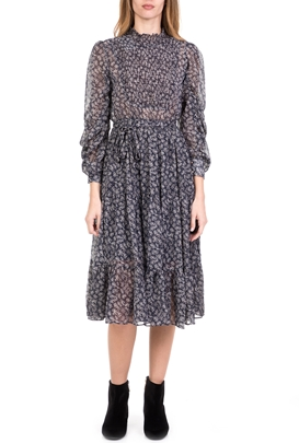 MOLLY BRACKEN-Γυναικείο midi φόρεμα MOLLY BRACKEN μπλε ac3e098b378